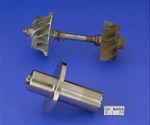 Shafts and impellers from a NASA Oil-Free Turbocharger