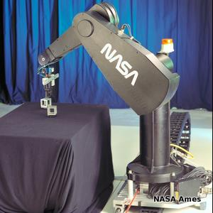 Grey NASA Unimate/PUMA robot arm