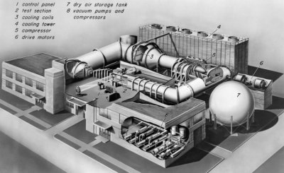 Drawing of the 6x6_foot Supersonic Wind Tunnel at the NACA Ames Research Facility, 18 June 1948