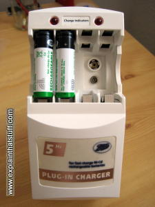 Photo: A typical nickel-cadmium nicad battery charger.