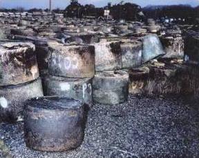 Nickel ingots at Paducah Gaseous Diffusion Plant, Kentucky, USA.