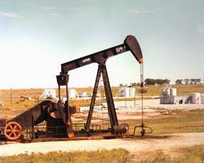 Nodding donkey oil pump