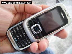 Nokia cellphone with keypad extended