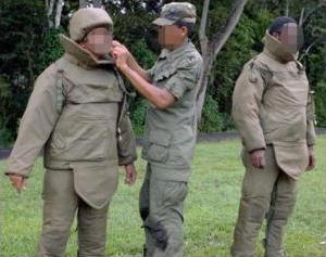 Soldiers wearing Nomex body armor