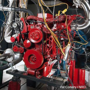 Red diesel engine