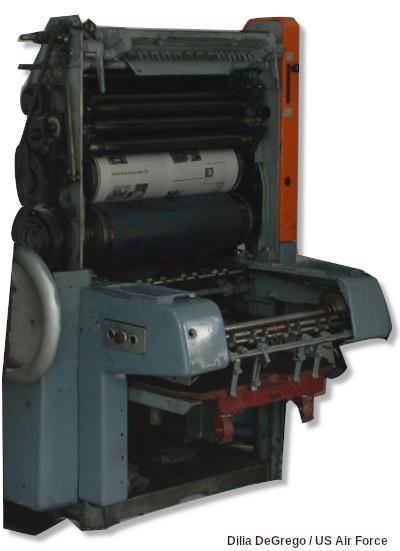 Solna offset printing press.