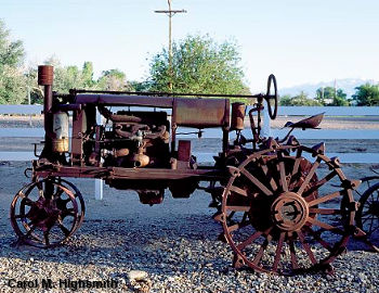 Old rusting possibly handmade tractor photographed by Carol M. Highsmith.