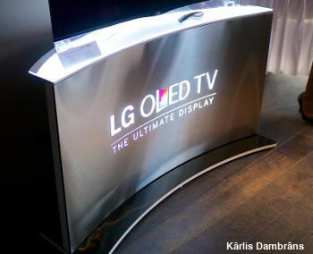 Curved-screen LG OLED TV.