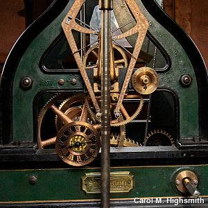 Clockwork mechanism in Oregon Union Station by Carol M. Highsmith.