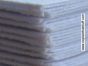 Closeup of office paper showing the fibrous surface.
