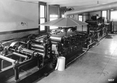 Small papermaking machine.