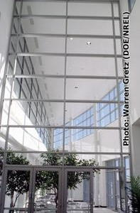A typical solarium on an office building.