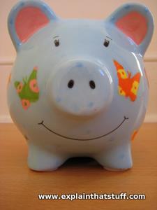 Percy Pig ceramic piggy bank