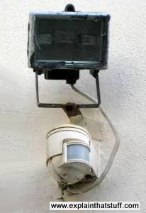 Photoelectric security light and motion sensor.