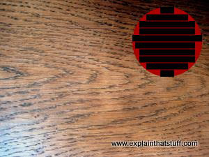 Plainsawn wood has ovals or curves on its surface.