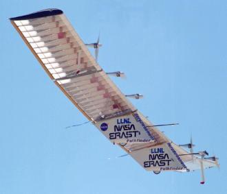 Photo of plastic plane by NASA