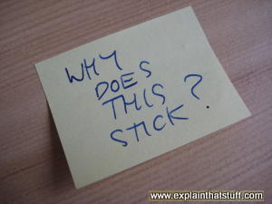 A sticky Post-it(R) note