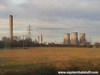 Photo of gas-fired electricity generating power plant at Didcot England.