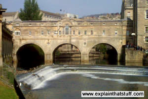 The Pulteney Bridge in Bath, England is an example of a stone arch bridge.