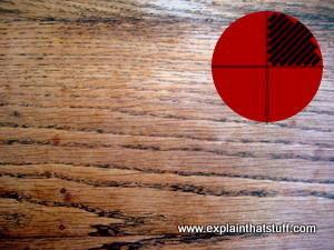 Quartersawn wood has parallel lines on its surface.
