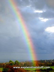 Photo of a rainbow.