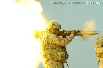 Firing a recoilless gun
