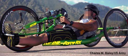 A Top End recumbent bike.