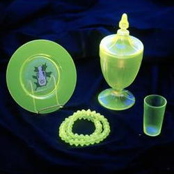 Items made from recycled glass