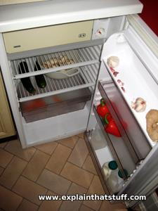 Refrigerator with the door open