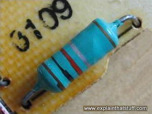 Typical wirewound resistor