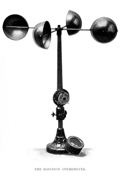 The Thomas Romney Robinson four-cup anemometer.