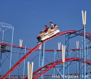 Roller coaster car, Atlantic City, New Jersey, John Margolies Roadside America photograph archive