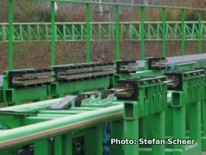 The green linear eddy current brake from a rollercoaster