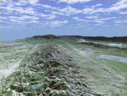 San Andreas fault at the Carrizo Plain