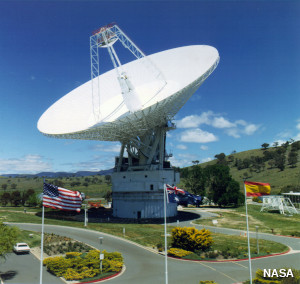 Parabolic satellite dish at Canberra, Australia