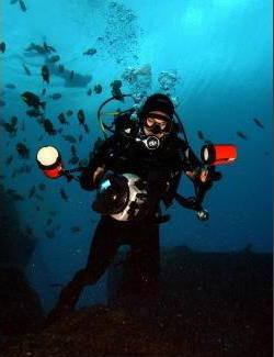 Scuba diver in a wetsuit