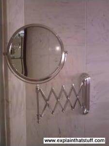 A shaving mirror