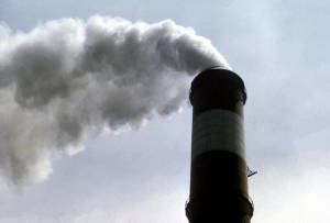 Photo of air pollution from a smokestack