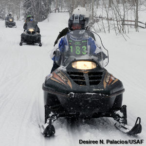 Photo of Arctic Cat Bearcat snowmobile in Snowmass Village, Colo.