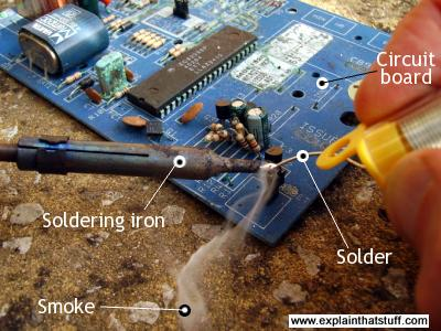 Soldering components to a circuit board