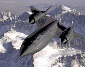 SR-71B Blackbird airplane