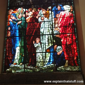 Stained glass window by Edward Burne-Jones in St Philips' Cathedral, Birmingham