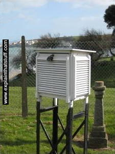 Stevenson screen weather measurement container