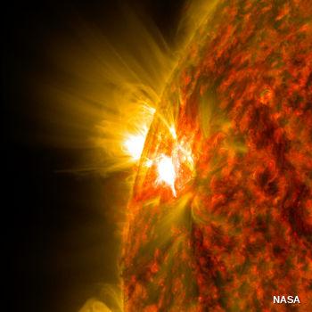 Solar flare from the Sun