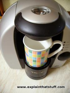 A Braun Tassimo pod coffee maker