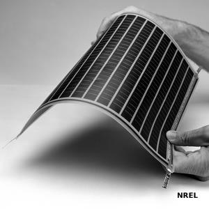 Flexible second-generation thin-film solar cell.