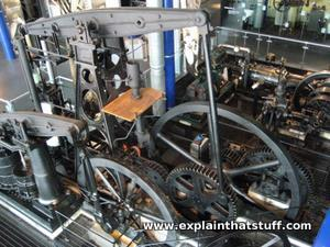 Various engines on display at Birmingham Think Tank science museum in England.