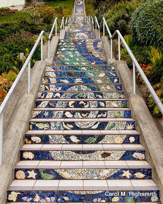 The 16th Avenue Tiled Steps Project by Carol M. Highsmith