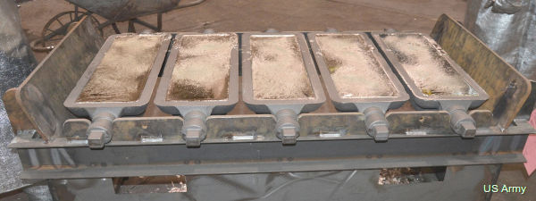Photo of tin processing at Rock Island Arsenal, US Army.