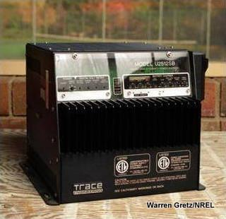Photo of a typical power inverter made by Xantrex/Trace Engineering.
